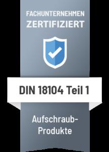 Siegel Zertifiziert DIN 18104 Schor Einbruchschutz