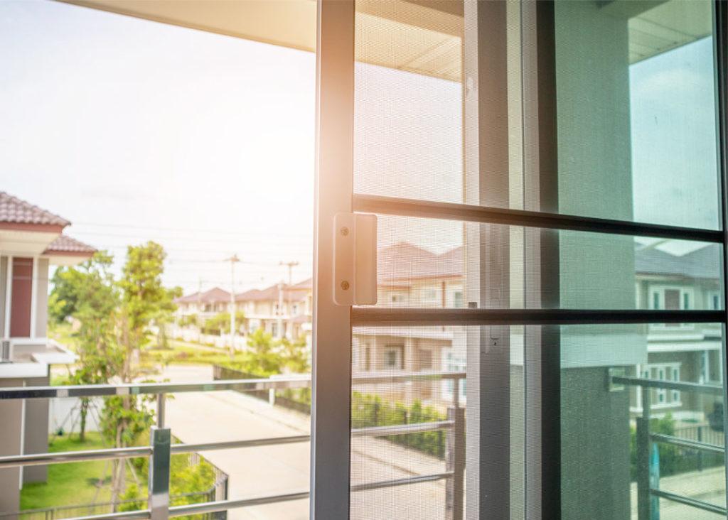 Schiebeanlage Insektenschutz Fenster